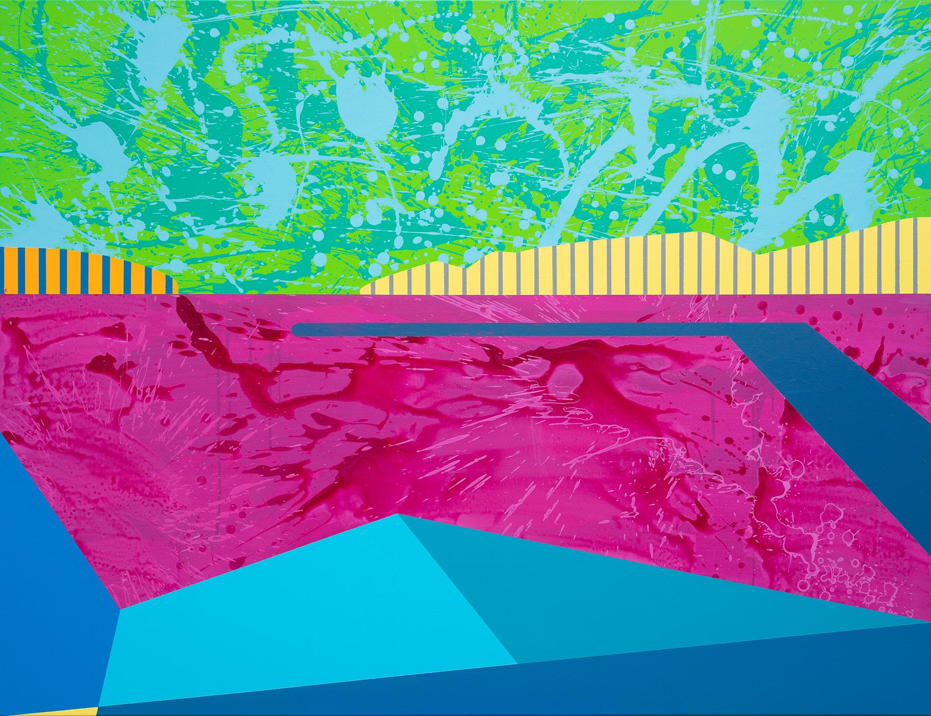 Balatonfüred, akril, vászon, 100x130 cm, 2021. - Teszt