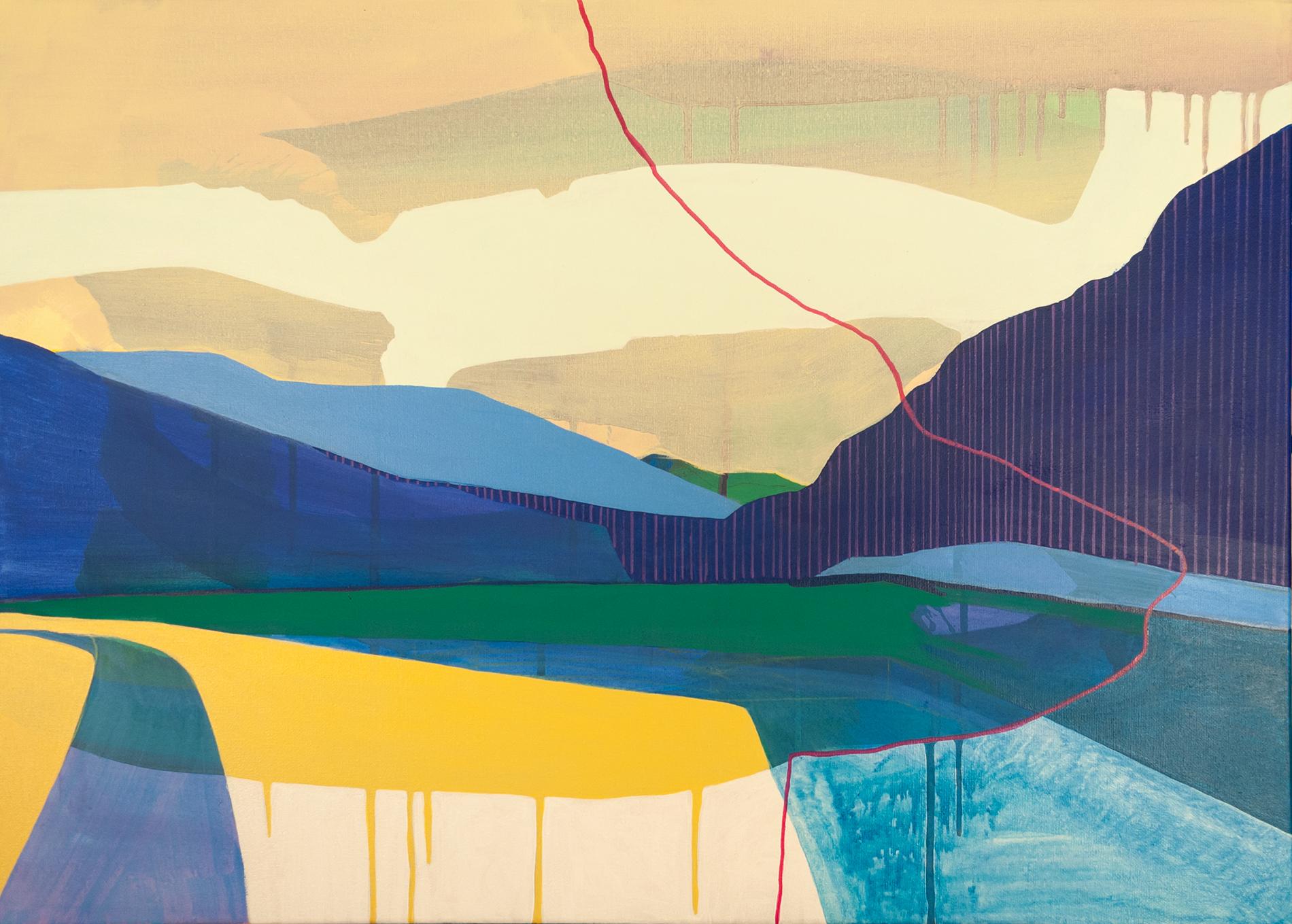 Heiligenblut, akril, vászon, 50x70 cm, 2018. (magántulajdonban)